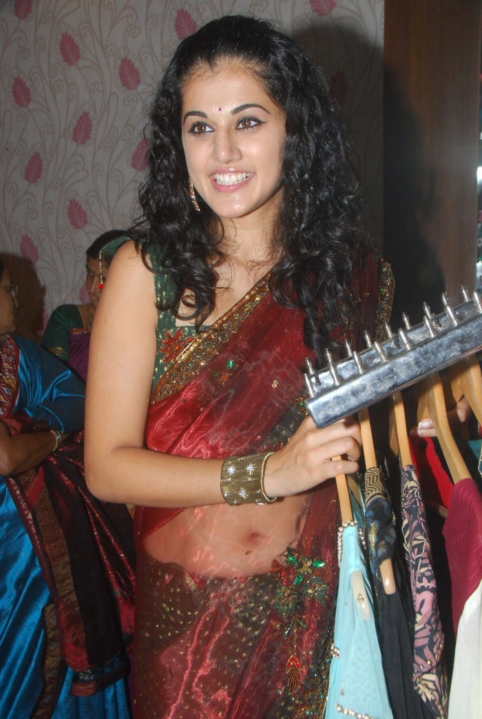 Saree, Tapasee Pannu in Red Saree, South Indian celebs in Saree