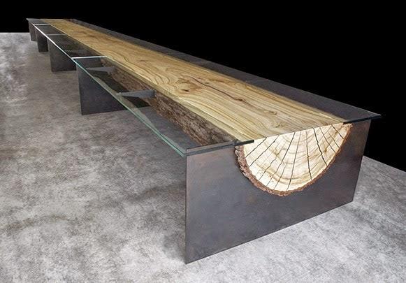 Blog de productos con buen dise o roc21 mesa de tronco for Mesa tronco
