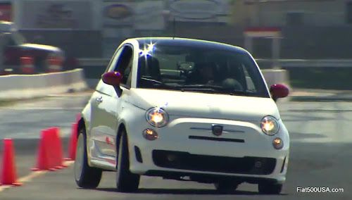 Fiat 500 Abarth hard cornering