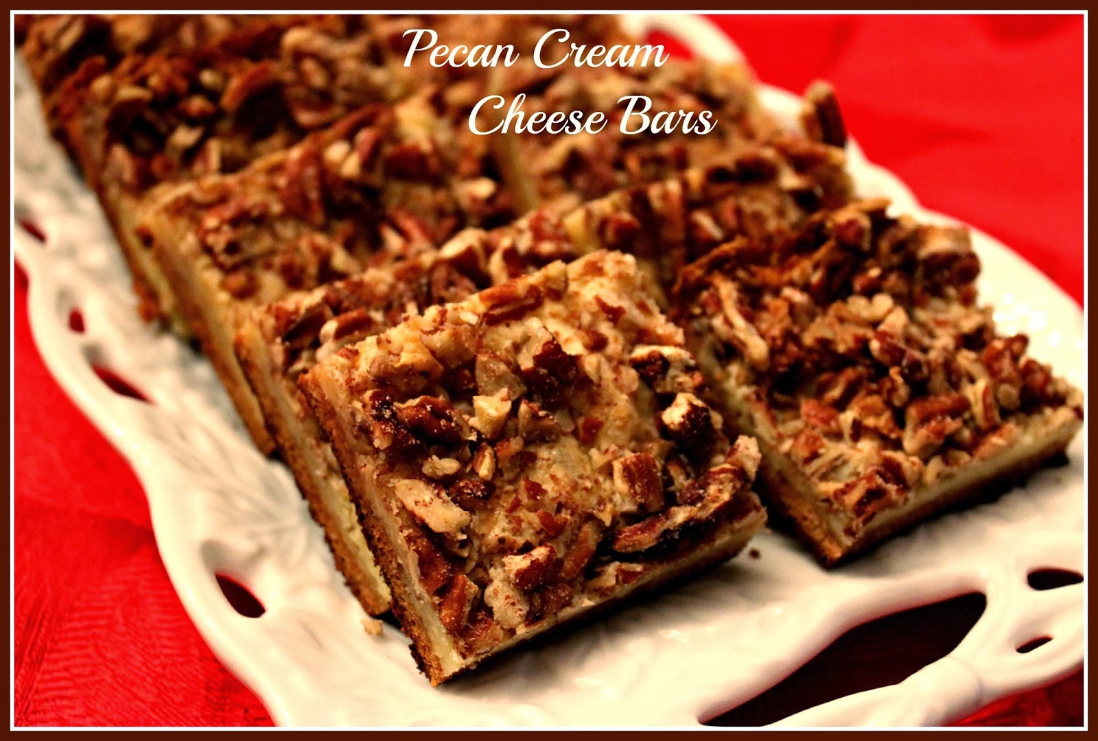these pecan bars are sort of like a pecan pie a cheese cake and a ...