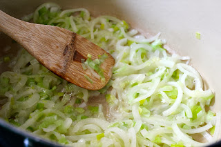 Sauteed onion and leek