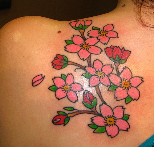 Japanese cherry blossom tattoo about lady for Japanese cherry blossom tattoos