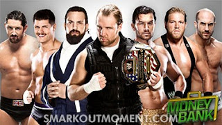 Money in the Bank 2013 Results Ambrose Barrett Rhodes Sandow Fandango Swagger Cesaro