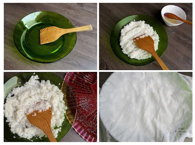 Enfriando el arroz