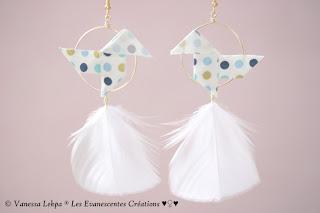 bijoux poétique origami oiseau