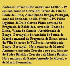 Capitão Mor Antônio Correia Pinto
