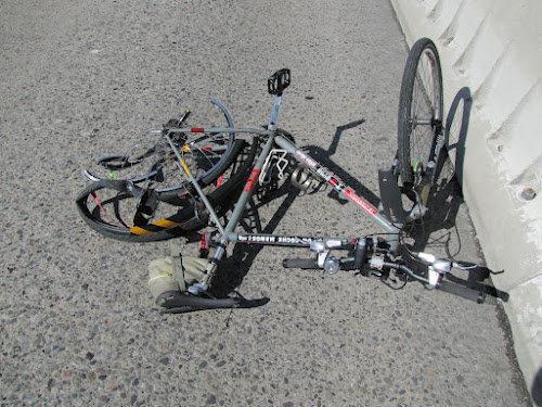 Bicicleta de Frank Pavlick após o acidente