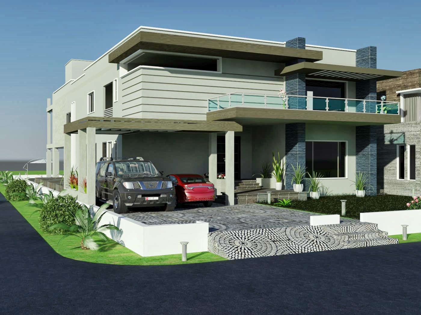 Front Elevation Of Houses In Dha Karachi : D front elevation kanal dha karachi modern