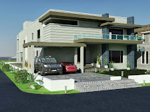 Contemporary House Front Elevation