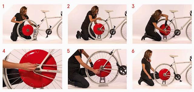 Установить Копенгагенское колесо на велосипед может практически каждый