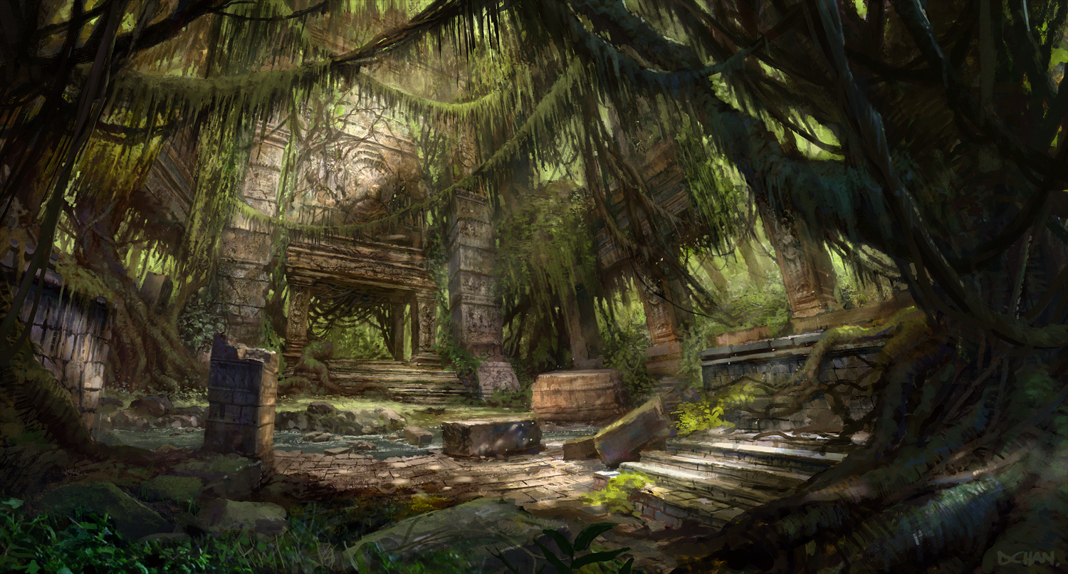 jungle ruins by daemonstar - photo #4