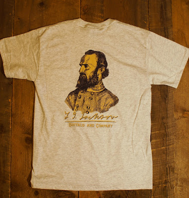 confederate general Stonewall Jackson t-shirt