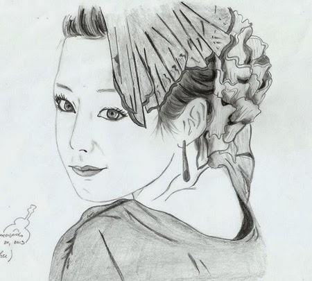 Hình Kim Tae Hee tuyệt đẹp qua những bức vẽ chân dung của FAN