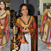 Aksha in White and Orange Salwar