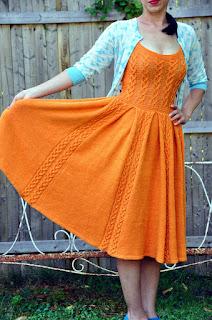robe-tricot-vintage-orange