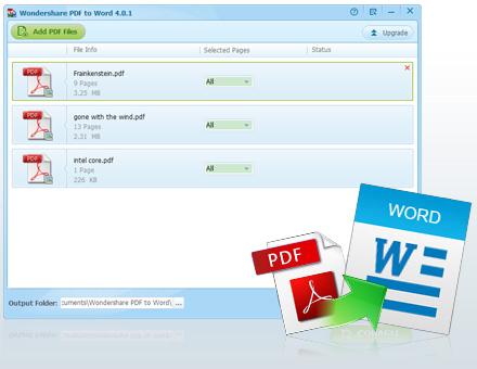 Miễn phí bản quyền phần mềm Wondershare PDF to Word Converter