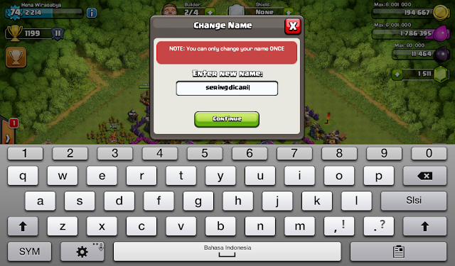 Cara Mudah Mengganti Nama  Nickname Clash of Clans COC Terbaru
