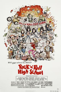 Cartel de la comedia musical Rock 'n' Roll High School (1979)
