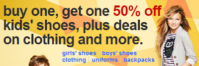 target buy one get one 50% off kids shoes deal