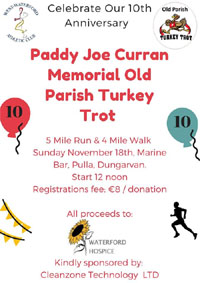 5m race in West Waterford - Sun 18th Nov 2018
