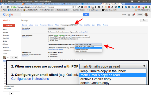 Gmail Forwarding and POP/IMAP