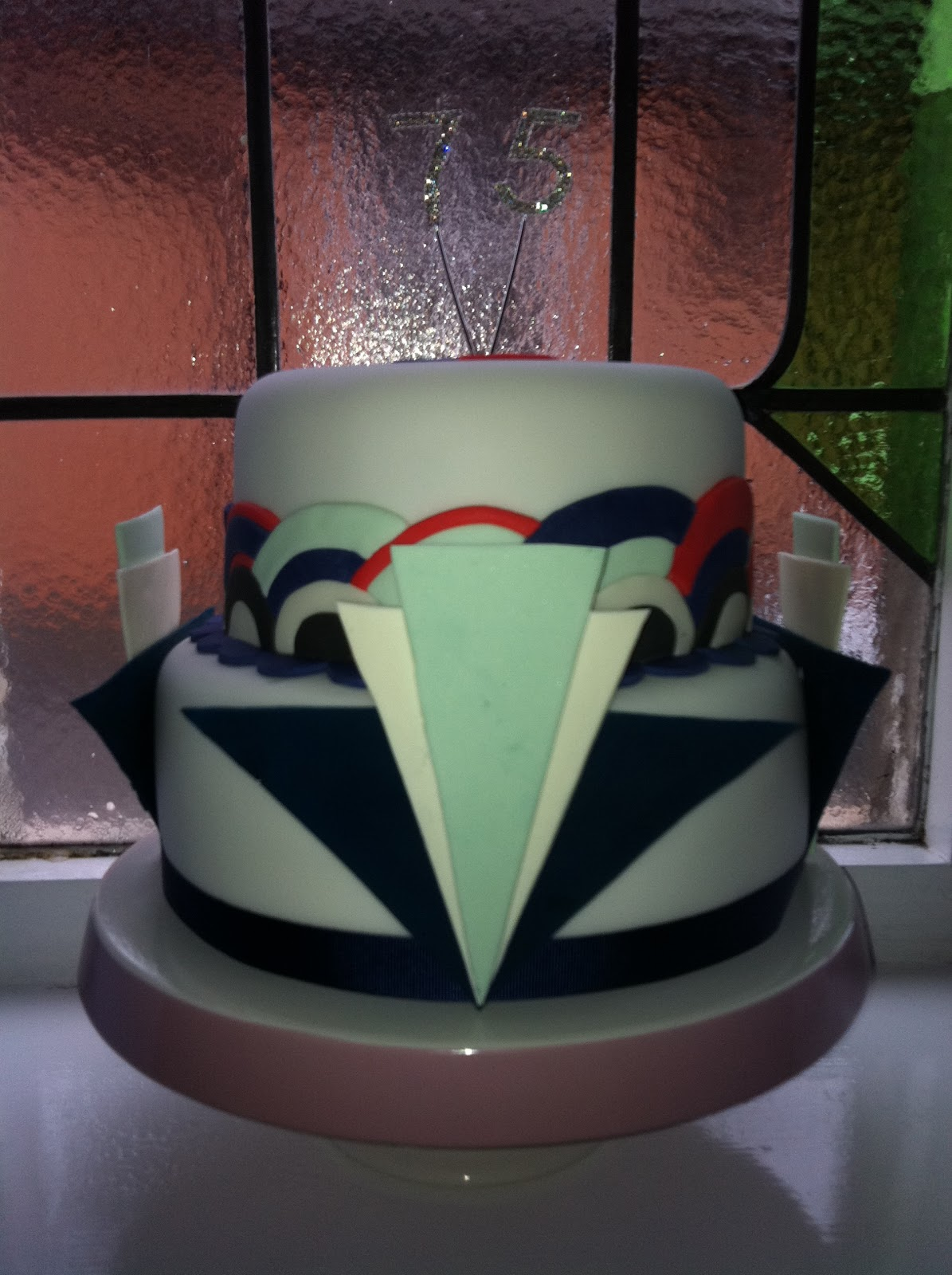 Art Deco Birthday Cake : Lilyberry Cakes: Art Deco 75th Birthday Cake