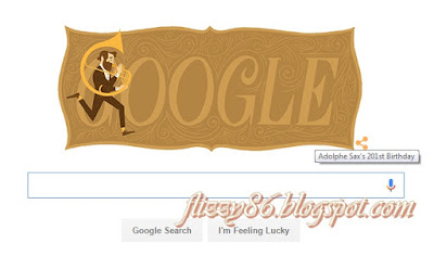 ADOLPHE SAX ON GOOGLE TODAY!