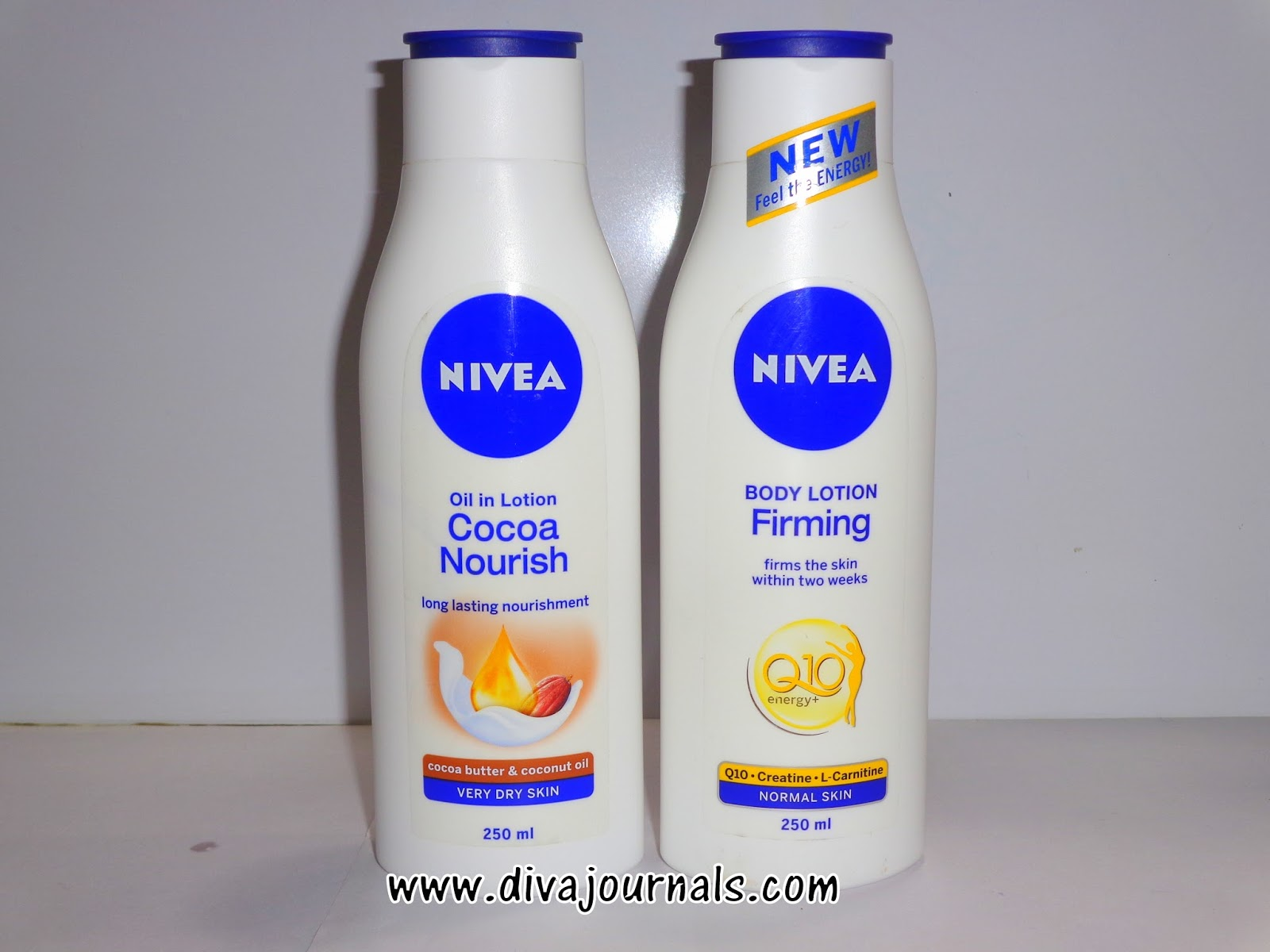 Nivea Q10 Firming & Nivea Oil in Lotion Cocoa Nourish Body Lotions Reviews