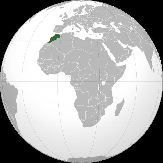 Globo Terráqueo Marruecos