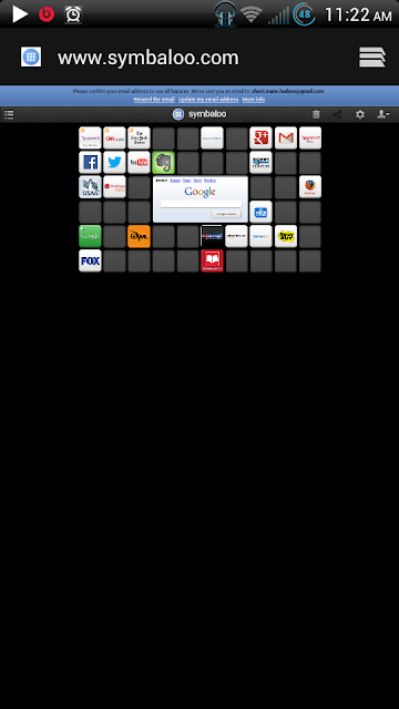 My Symbaloo homepage