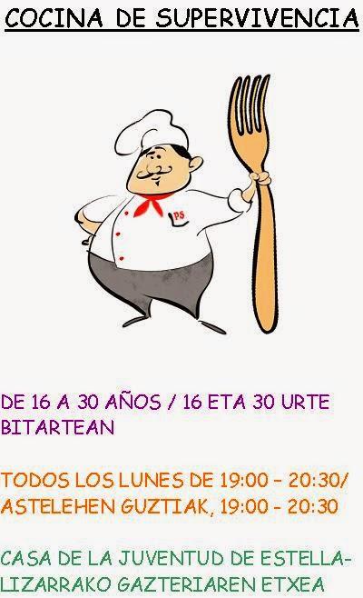 Casa de la juventud de estella lizarra nuevos cursos de cocina - Carteles de cocina ...