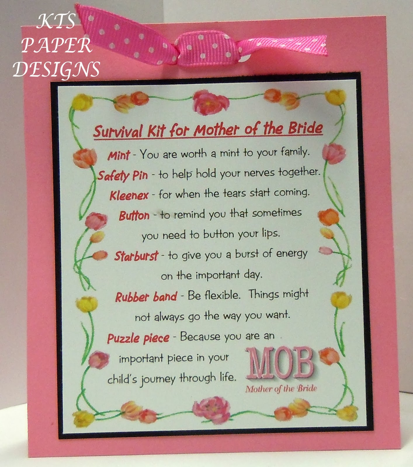 Kts paper designs mother and grandmother of the bride survivor kits mother and grandmother of the bride survivor kits m4hsunfo