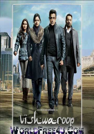 Poster Of Vishwaroopam (2013) Full Movie Hindi Dubbed Free Download Watch Online At worldfree4u.com