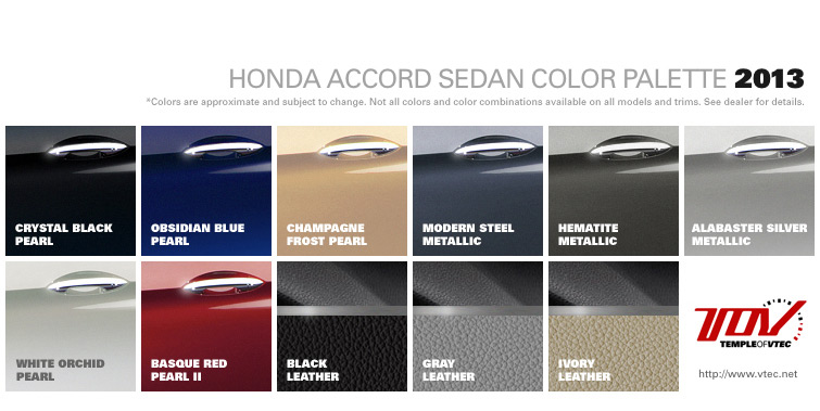 Honda Civic Color Chart Car Interior Design