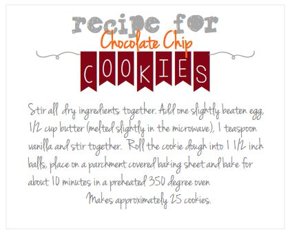 Download this yummy mason jar chocolate chip cookie recipe from our free printables!