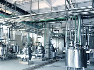 UHT milk processing plant