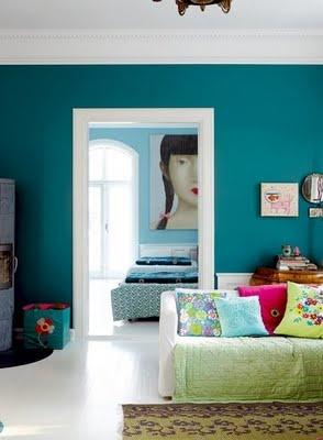 De andar por casas mi adorado turquesa - Azul turquesa pared ...
