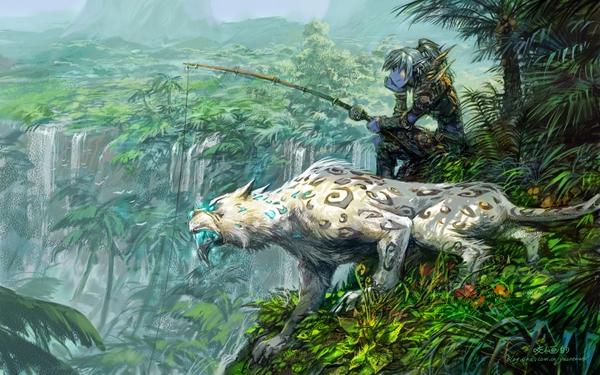 Mi cazador un dia de pesca aburrido Jungle+world+of+warcraft+fishing+artwork+long+ears+yaorenwo+1440x900+wallpaper_wallpaperswa.com_30