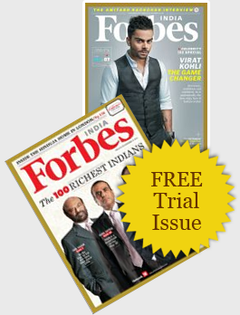Get Free Trial Issue of Forbes India Magazine