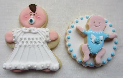 galletas bebe niño con glasa y fondant