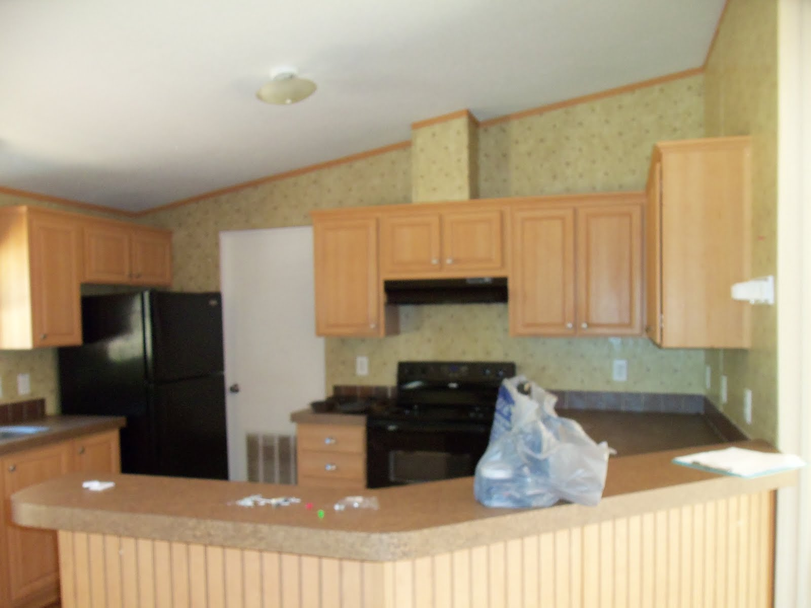Mobile home makeover original interior pics How to do a home makeover