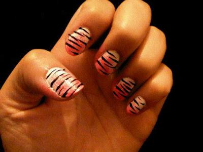 Nail Art 1 Tiger Print Fashernably Late