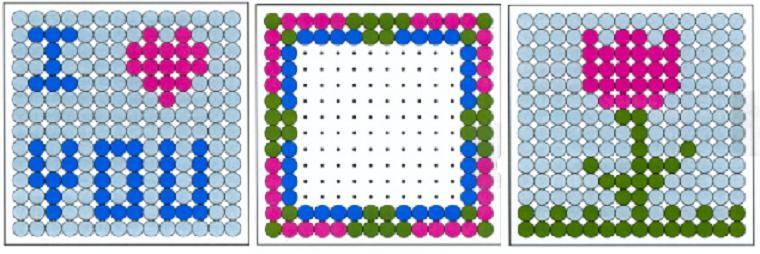 patrón diseño con cuentas