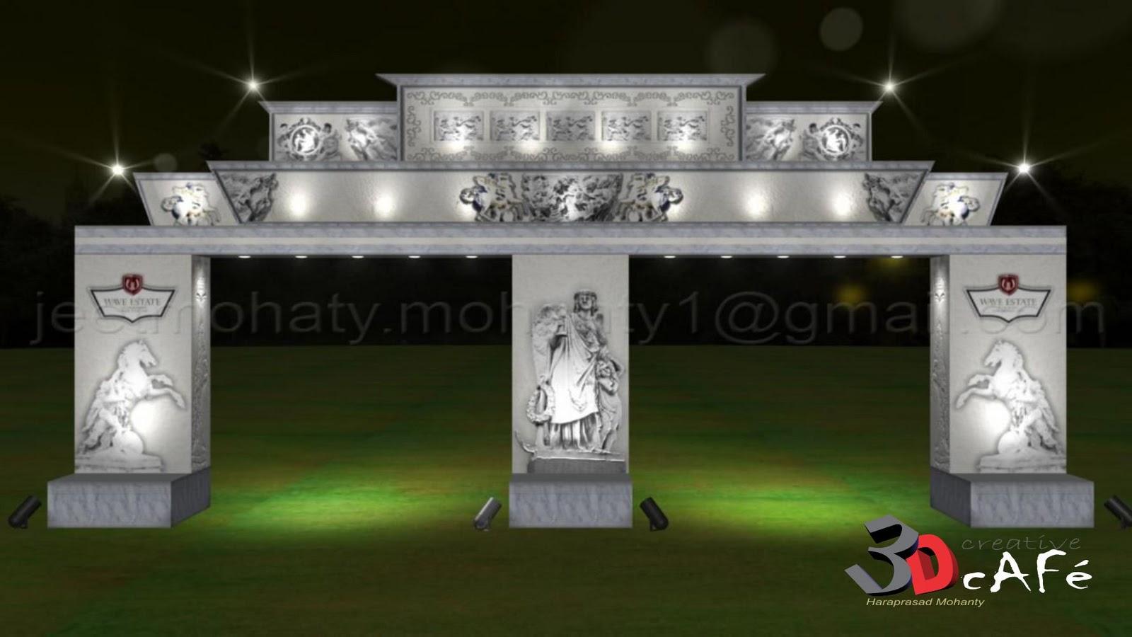haraprasad mohanty 3d artist entrance arch design