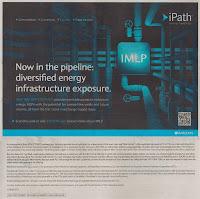 Ad of iPath S&P MLP ETN (IMLP): Pipeline Energy Infrastructure Fund