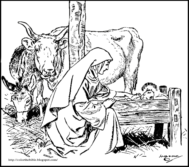 86 Nativity Donkey Coloring Page Donkey Coloring Pages Printable Mary And The Nativity