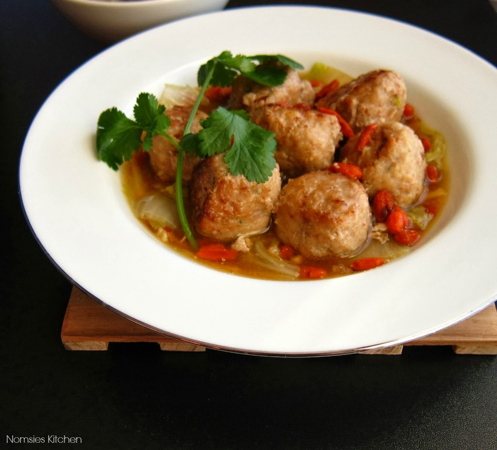 Lionhead Meatballs from Nomsies Kitchen