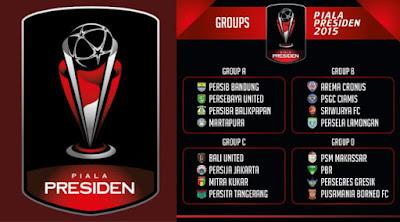 Hasil drawing pembagian grup jadwal piala presiden 2015