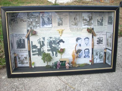 Bonnie &amp; Clyde shadowbox