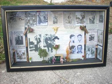 Bonnie & Clyde shadowbox